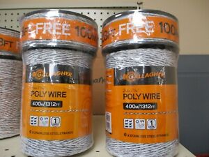 Gallagher Polywire Combo Roll 1312ft Plus 328ft 2 Rolls 42 50 Each