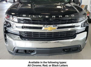 2019 up Chevy Silverado Hood Accent Trim Looks Awesome Easy Install