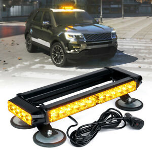 Xprite Amber Yellow 14 5 Led Strobe Light Bar Rooftop Emergency Warning Trucks