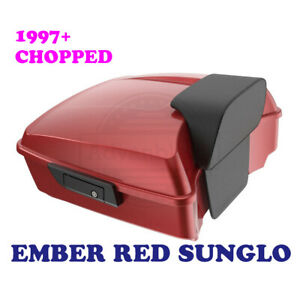 Ember Red Sunglo Chopped Tour Pak Fit Harley Touring Street Electra Road 2014