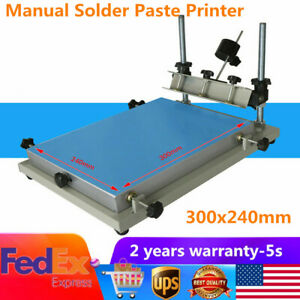 Brand New Manual Solder Paste Printer Pcb Smt Stencil Printer S Size 300x240mm