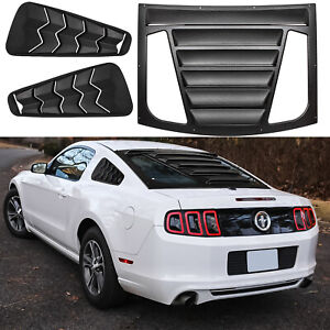 Rear And Side Window Louvers For 2005 2014 Ford Mustang Gt Lambo Style