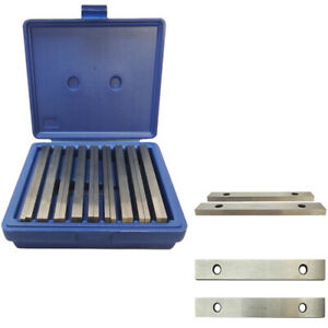 Steel Parallel Set 9 Pair 1 4 Inch Thick 6 Inch Long 0 0002 Inch Precision