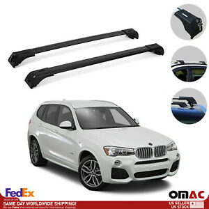 Roof Rack Cross Bars Luggage Carrier Black Set For Bmw X3 F25 2010 2017