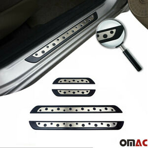 Door Sill Plate Cover Stainless Steel On Plastic 4 Pcs For Chevrolet Orlando