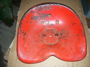 Vintage Massey Harris 44 Row Crop Tractor 3 Hole Tin Seat Pan 1950