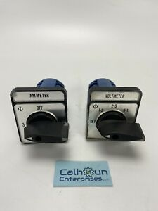 lot Of 2 Kraus Naimer C11 12a 600vac Selector Switch ammeter voltmeter