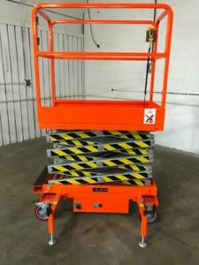 5 Star 16 Feet Max Lift New Electric Scissor Lift Man Lift Skylift Jack