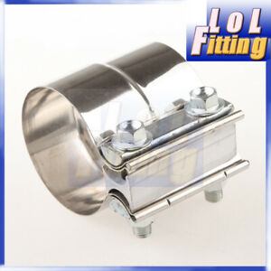 2 5 2 1 2 Stainless Steel Torctite Exhaust Band Clamp Lap Joint Us Stock