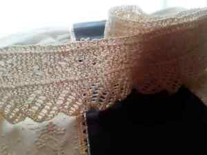 Antique Lace Trim Edging Sewing Clothes Knit Art Doll Crafts 32 X 2