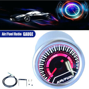 2 Inch 52mm Led Smoke Lens Narrowband Air fuel Ratio Monitor Electric Gauge
