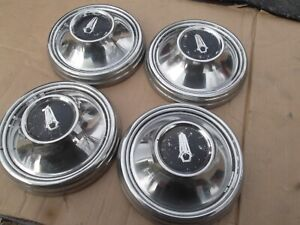 Set Of 4 67 68 69 Plymouth Dog Dish Hubcaps 9 Hemi