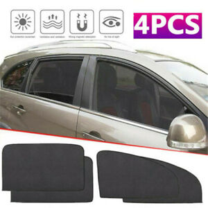 4pcs Magnetic Car Sunshade Uv Protector Front Rear Side Window Curtain Sun Shade