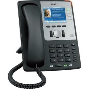 New Snom 821 Sip Voip Black 12 line Color Display Gigabit Phone Base Handset Poe