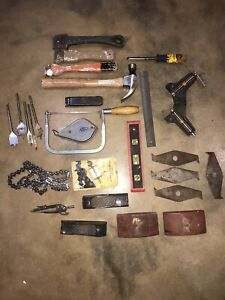 Large Lot Of Carpentry woodworking Tools