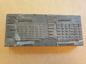 Vtg Copper Wood Printing Press Plate Block Stamp Flower Bulb Planting Chart