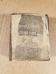 Vtg Copper Wood Printing Press Plate Block Stamp To na cide Insecticide Bag