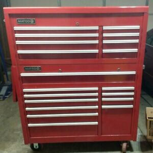 Matco Double Eagle Tool Box W Shelf Mb6211 Top Chest Mb6200 Rollaway Made In Usa