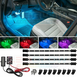 Ledglow 4pc Expandable 7 Color Led Interior Under Dash Neon Lights Kit For Dodge