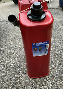 Blitz Usa Red Metal Gasoline Gas Jerry Can 5 Gallon Blitz Has Never Held Gas