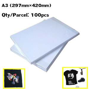 A3 Dark Color Sublimation Heat Transfer Paper For T shirt Pillowcase Cloth