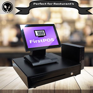 Firstpos 17in Touch Screen Pos Cash Register Till System Retail restaurant