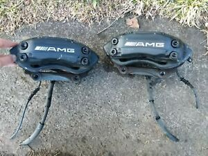 Mercedes Benz 4 Piston Calipers Brembo Oem Amg Front Pair 2070460411 2070460311