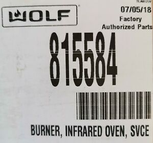 815584 Wolf Burner Infrared Oven Svce Pro Series