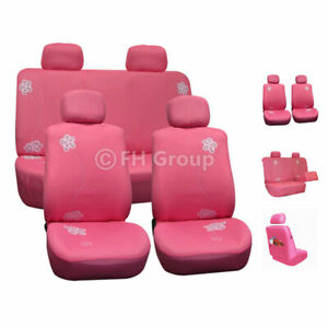 Car Seat Covers Floral Pink Top Quality For Girl Car Suv Truck