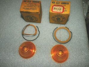 Set Of 2 Kd Lamp Company 2 1 2 Inch Amber Beehive Plastic Lenses 512 Nors