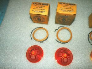Set Of 2 Kd Lamp Company 2 1 2 Inch Amber Beehive Plastic Lenses 512a Nors