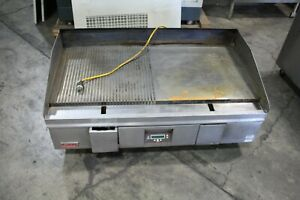 Lang 48 Electric Half Grooved Griddle Counter Top