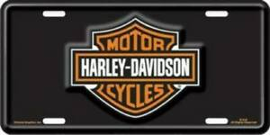 Chroma Graphics 1846 License Plate With Harley Davidson Bar And Shield