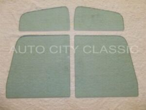 Side Glass 1948 1964 Willys Pickup Truck Vent Door Green 4pc Set Lh Rh