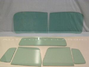 Glass 1948 1960 Willys Pickup Truck Windshield Vent Door Small Back Green