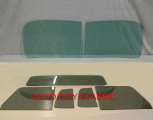Glass 1948 1960 Willys Pickup Truck Green Windshield Grey Vent Door Small Back