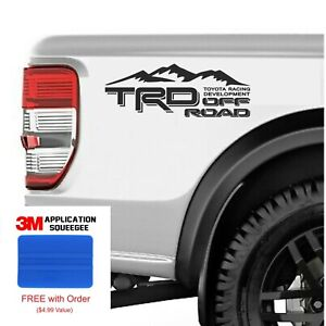 2 Pack Trd Off Road 4x4 Toyota Racing Development Tacoma Tundra Truck Decal