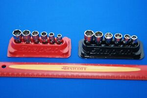 Snap on 12 Piece 1 4 Drive 6 point Sae Metric Shallow Universal Socket Sets
