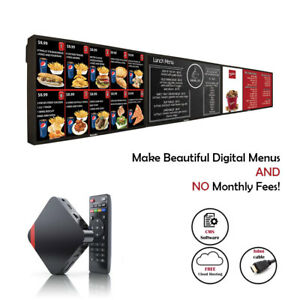 Digital Menu Players For With Free Signage Software With For Safe Menu Delivery