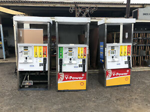 Gas Pump Dispenser Gilbarco Encore Price For Lot Of 3 Pictured Double Sided