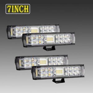 4x 6 816w Led Lights Bar Combo Spot Driving Work Offroad Backup Fog Truck 4wd