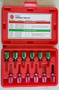 12 Pc Mac Tools Automotive Electrical Termlnal Tool Kit Tt96030 In Case