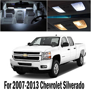 For Chevy Chevrolet Silverado 07 13 White Interior Led Lights Accessories 12pcs