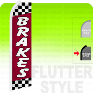 Brakes Swooper Flag Feather Banner Sign 2 5x11 5 Tall Flutter Style Rf