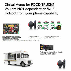 Digital Menus For Food Truck Or Concession Stand Not Wi fi Dependent