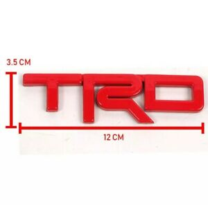 Trd Red Logo Emblem For Toyota Hilux Revo Fortuner Vigo Altis Yaris