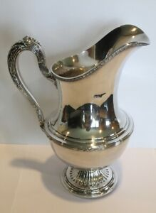 Reed Barton Pitcher Silverplate 4020 Engraved F