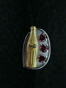 10KT GOLD & RUBIES COCA-COLA PIN - NEW
