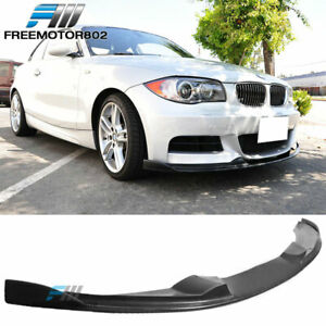 Fits 07 11 Bmw E82 1 Series 135i Only H Style Front Bumper Lip Pu