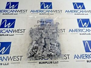 Phoenix Contact Typ Clip Fix 35 Terminal Block Pa66 Gray Lot Of 55 New